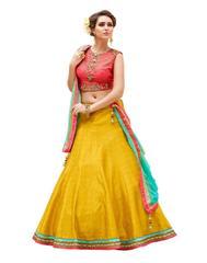 Multi Color Embroidered Designer Benglori Silk Lehenga Choli