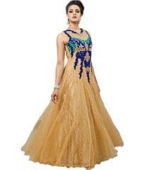 Beige Color Embroidred Designer Gown_KDN233