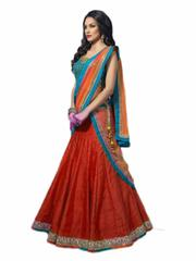 Red Color Embroidered Designer Benglori Silk Lehenga Choli