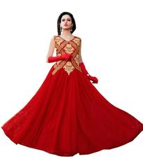 Red Color Embroidred Designer Gown_KDN237