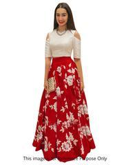 Red Colour Embroidered Benglori silk DesignerLehenga Choli