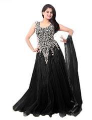 Black Color Net Embroidred Designer Gown_KDN243