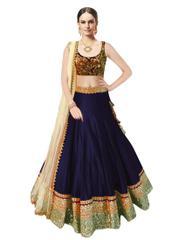 Kaladin Navy Blue Color banglori Silk Lehenga Choli_