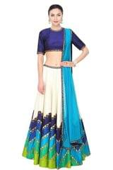 Digital Printed Benglori Silk Lehenga Choli_KDN362