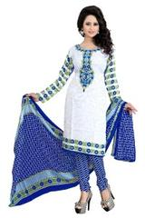 Blue Color Printed Dress Materials