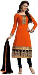 Kaladin Chanderi Orange Dress Material_KDN013