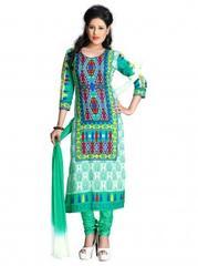 Multi Color Cotton Printed Dress Materials