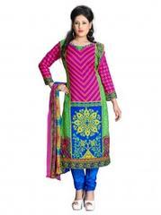 Multi Color Printed Cotton Dress Materials