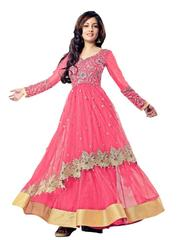 Kaladin Pink Net Embroidred Dress Material_KDN152