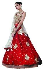 Red Color Embroidred Benglori Silk Bridal Lehenga Choli