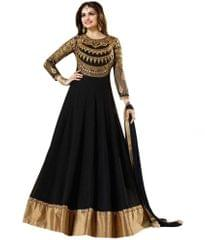 Black Color Embroidered Georgette Designer Dresses