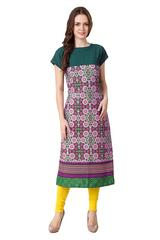 Multi color Stitched Havey American Crepe kurti