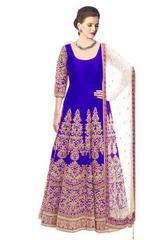 Royal Blue Color Embroidered Designer Salwar Suits