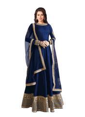 Blue Color Embroidered Designer Salwar Suits