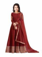 Red Color Embroidered Designer Salwar Suits
