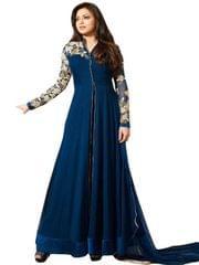 Blue Color Embroidered Designer Salwar Suis