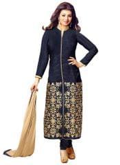 Blue Color Embroided Designer Salwar Suits
