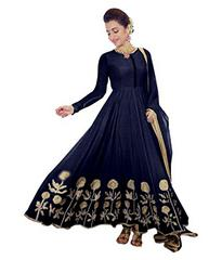 Navy Blue Color Embroidered Designer Salwar Suits