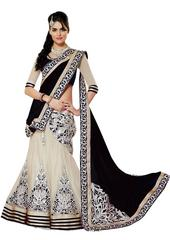 Black Color Embroidered Georgette And Net Designer Lehenga Choli