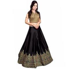 Black Color Banglori Silk Embroidered Lehenga Choli