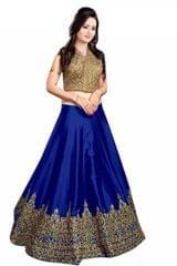 Blue Color Banglori Silk Embroidered Lehenga Choli