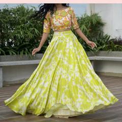 Indian New Fancy Bollywood Designer Digital Printed Lehenga Choli