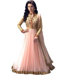 Light Pink Color Embroidered Salwar Suits