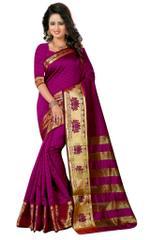 Purple Color Banarashi Silk Saree & Blouse