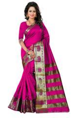 PINK COLOR Banarashi Silk Saree & Blouse