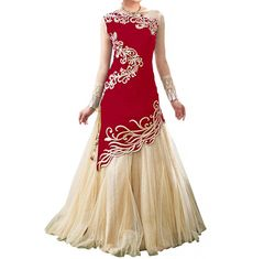 Red Color Georgette Embroidered Lehenga Choli