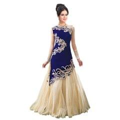 Blue Color Georgette Embroidered Lehenga Choli