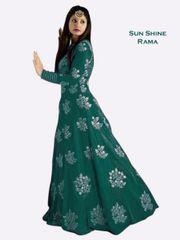 Rama Color Banglori Silk Embroiderd Designer Gown