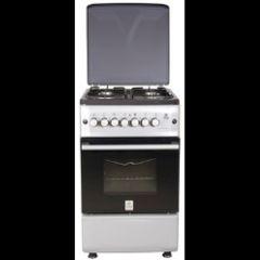 mika 4 gas cooker/electric owen silver