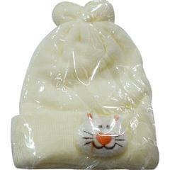 Cream Baby's Hood (1month-1yr)