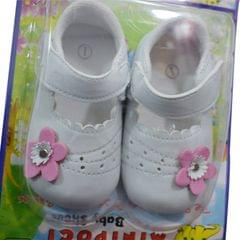 Pink And White Lovely Baby's Shoes (1month-1yr)