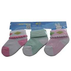 Light Pink,Light Green And Pink Baby's Socks (1month-1yr)