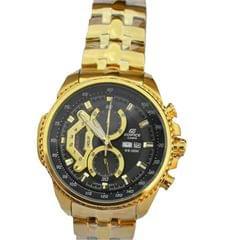 Black And Gold Edifice Casio Men's Watch