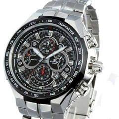 Edifice Casio Silver And Black Men's Watch