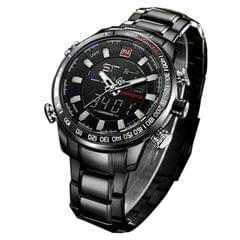 Naviforce Black Leather Men's Watch 2