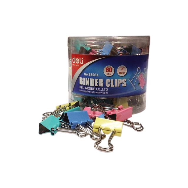 Deli Clips Small Brass Plated Binder Clip (Set of 1, Multi Color)
