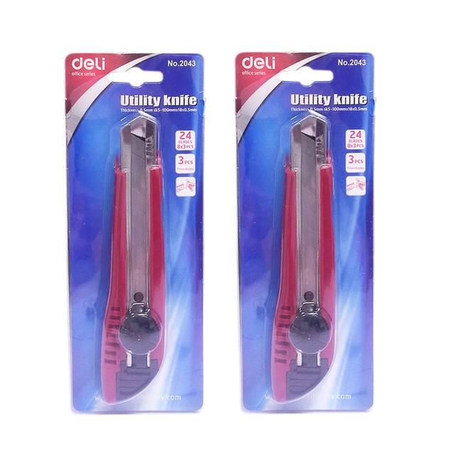 Deli C2043 Utility Knife (Red)