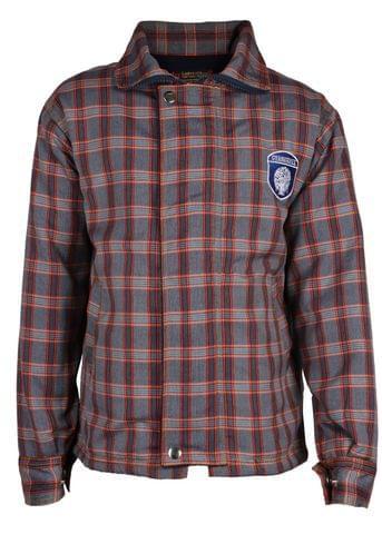 Gyanshree Grey Check Jacket (Class 1 to 8)