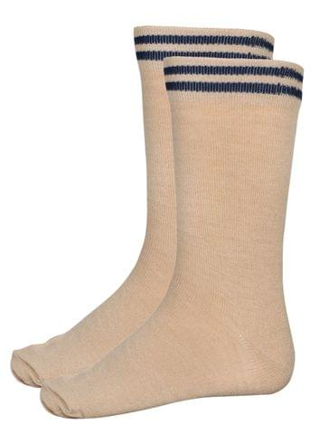 Gyanshree Beige Winter Socks (Class 6 and above)