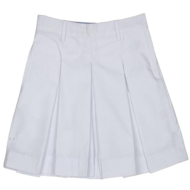 Nobel High School Summer White Skirts