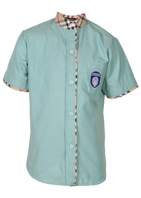 Gyanshree Half Sleeves Green Shirt for Girls (Class 1 onwards)