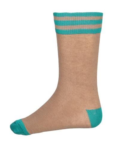 Gyanshree Beige Green Summer Socks (Class 1 Onwards)