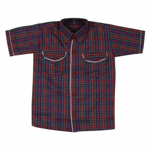 DAV Half Sleeves check Shirt