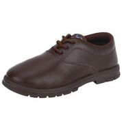Navigon Brown Solid Casual Lace Closure Shoes for Boys
