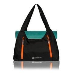 Harissons Regalia Black & Orange yoga/Gym/Beach Tote Bag