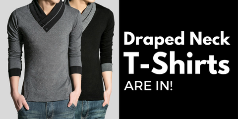 Draped Neck T-Shirts Are In!
